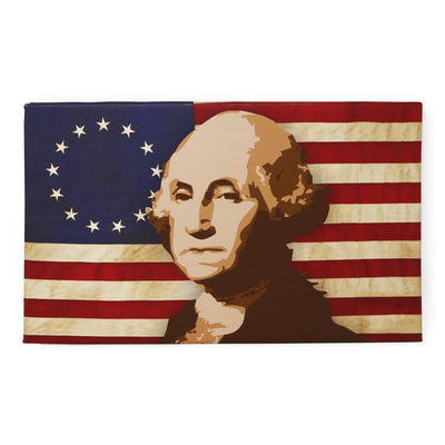 George Washington Flag Stretched Canvas