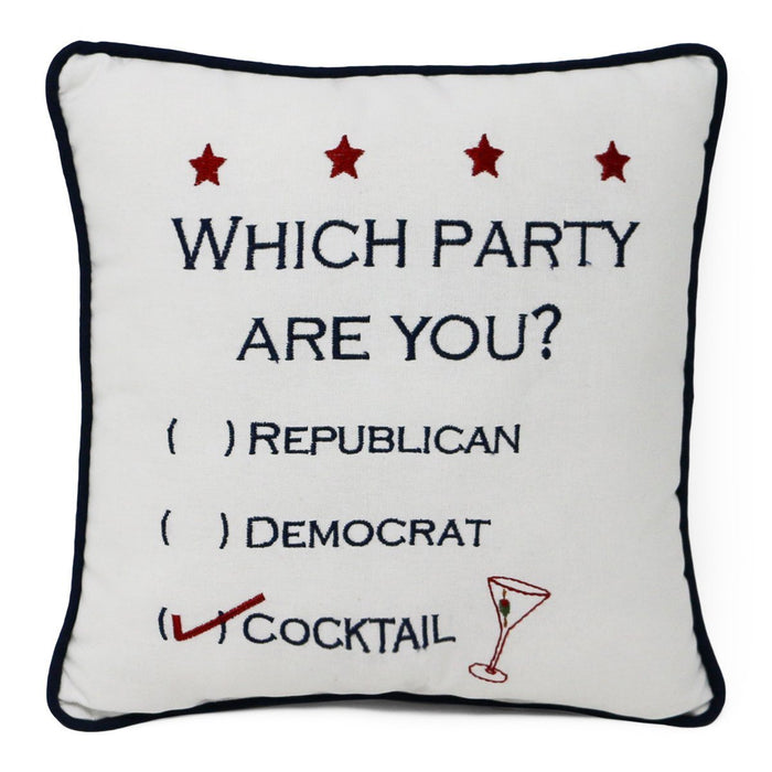 Which Party Are You? Pillow - C & F ENTERPRISE - The Shops at Mount Vernon