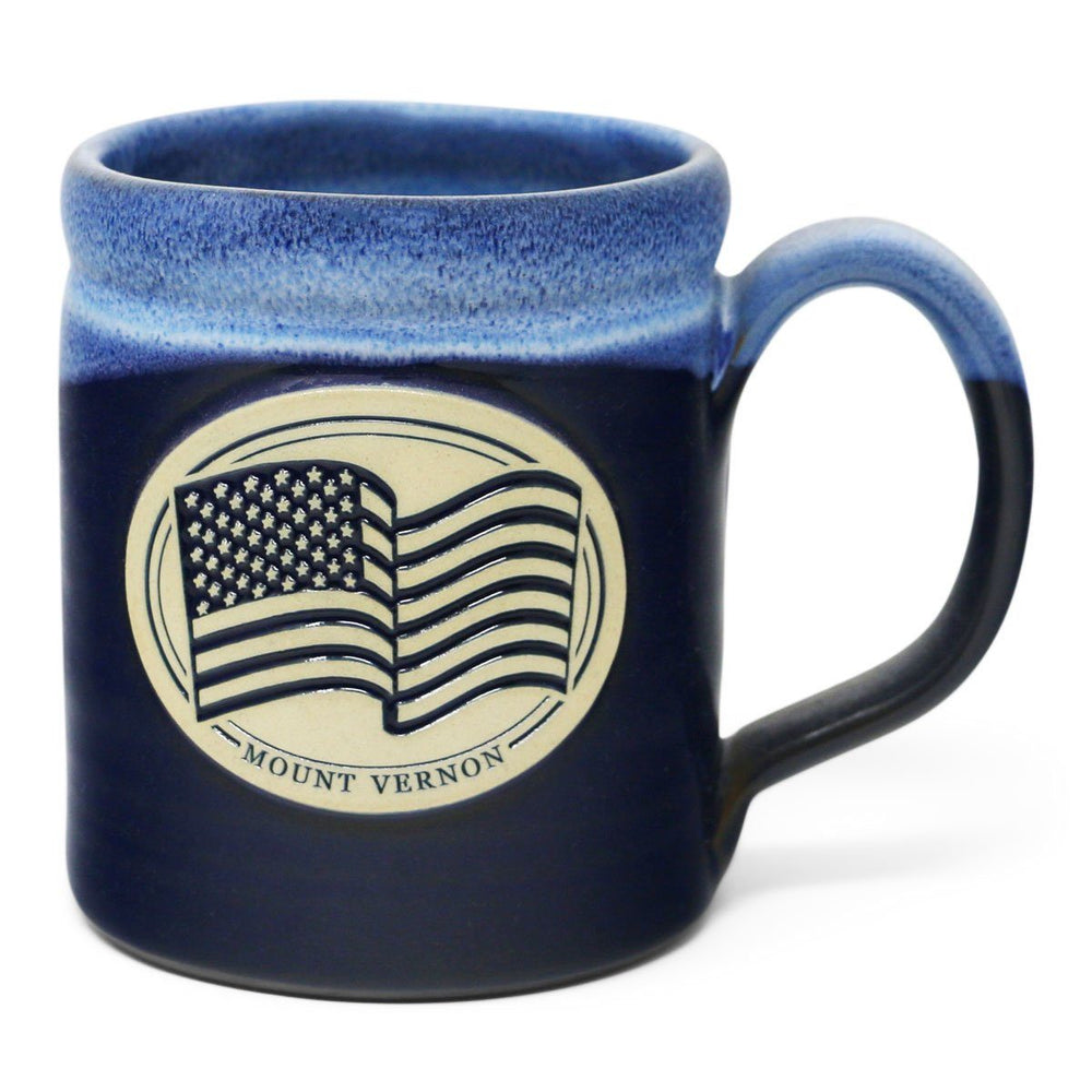 Mount Vernon US Flag Mug in Blue - DENEEN POTTERY - The Shops at Mount Vernon