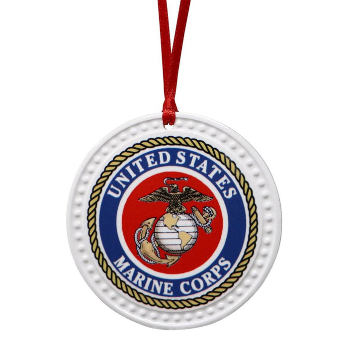 United States Marine Corps Seal Ornament - BARLOW DESIGNS, INC. - The Shops at Mount Vernon