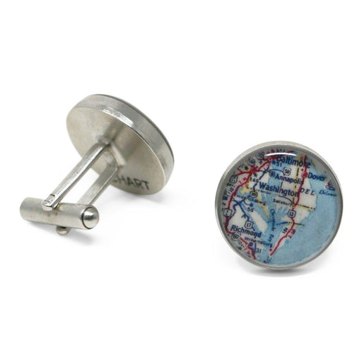 Mount Vernon Map Cufflinks - Chart Metalworks - The Shops at Mount Vernon