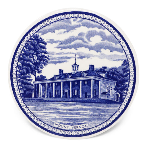 Blue Staffordshire Mount Vernon Porcelain Round Tile - The Shops at Mount Vernon - The Shops at Mount Vernon