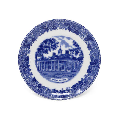 Blue Staffordshire Mount Vernon Porcelain Coaster