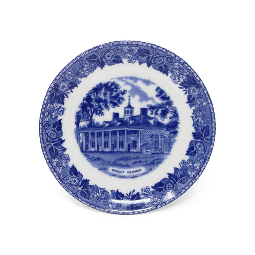 Blue Staffordshire Mount Vernon Porcelain Coaster - 31 - The Shops at Mount Vernon