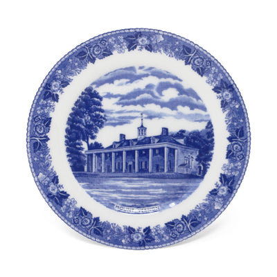 "Blue Staffordshire Mount Vernon 7"" Plate"