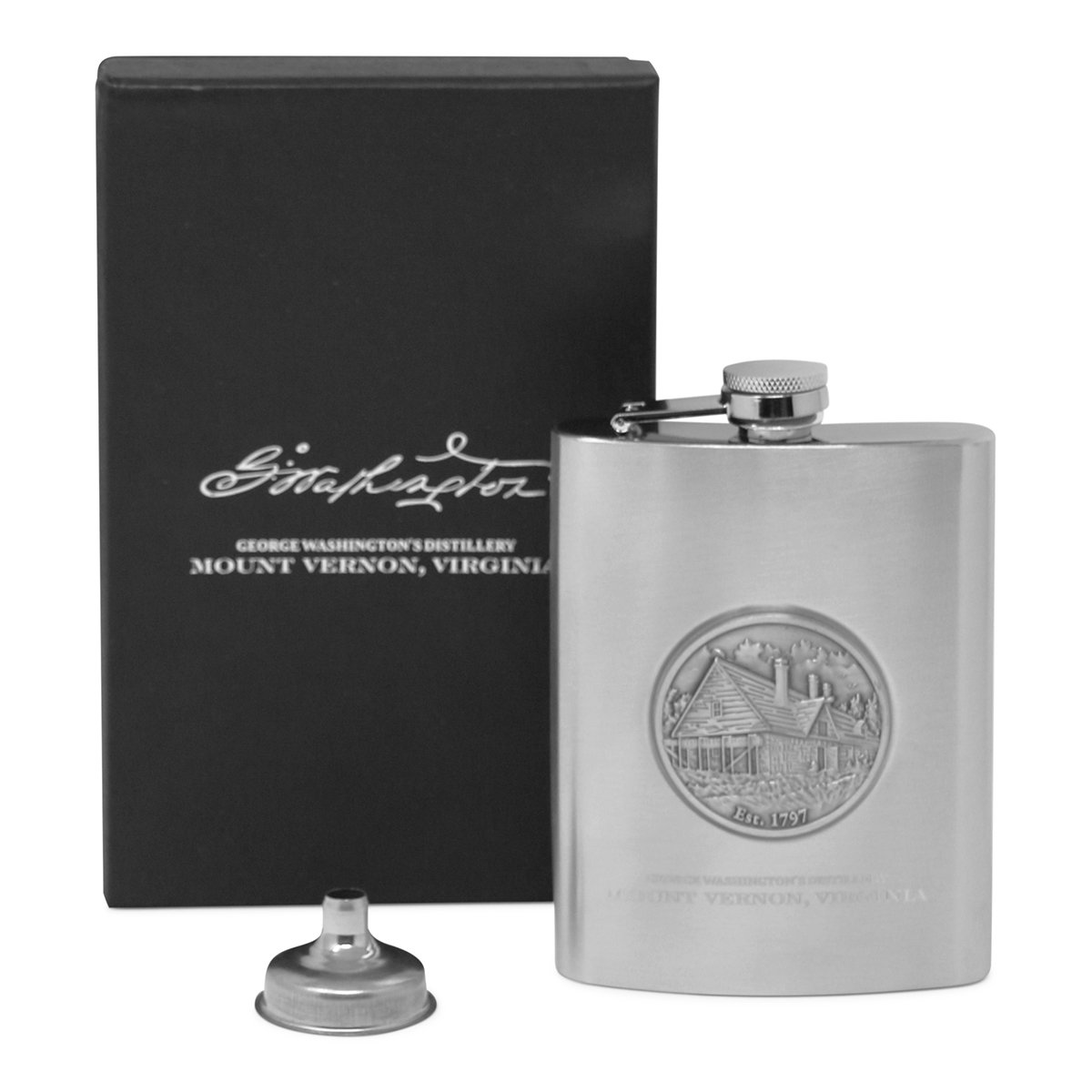 Mount Vernon Medallion Flask Set