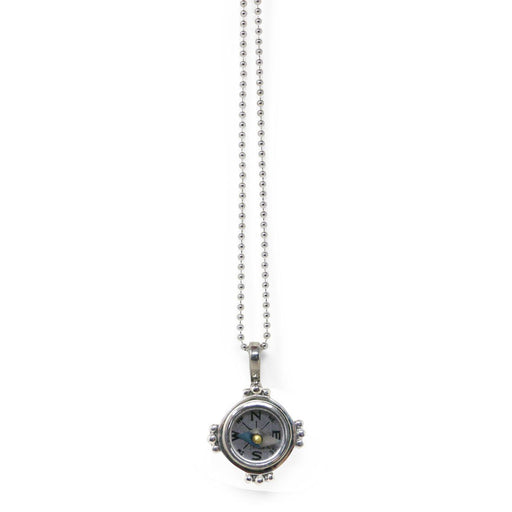 "Sterling Silver ""Follow Your Heart"" Compass Necklace - Healy Designs - The Shops at Mount Vernon"