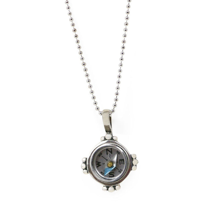 "Sterling Silver ""Find Your Way"" Compass Necklace - Healy Designs - The Shops at Mount Vernon"