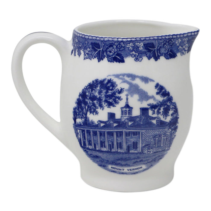 Blue Staffordshire Mount Vernon Pint Jug - 31 - The Shops at Mount Vernon
