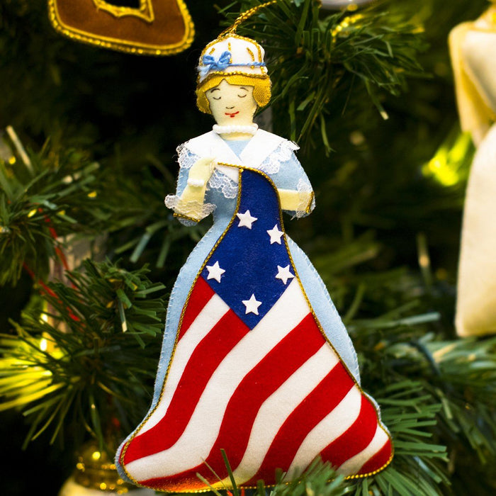 Betsy Ross Ornament - ST NICOLAS LTD. - The Shops at Mount Vernon