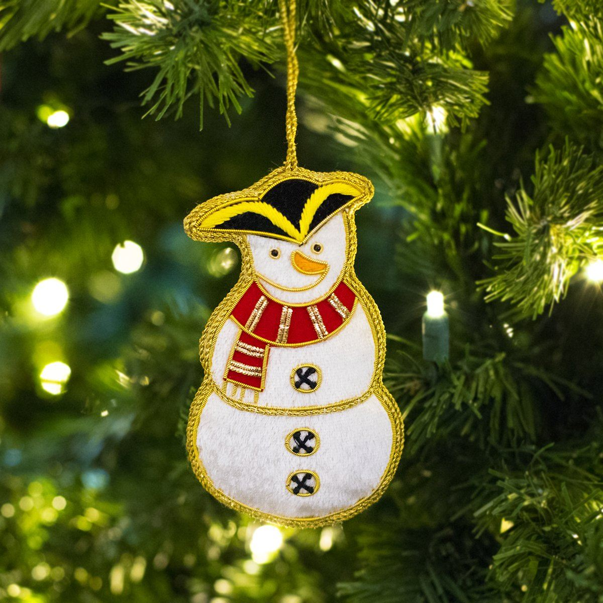 Colonial Snowman Ornament