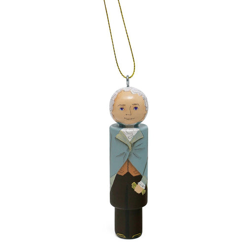 Alexander Hamilton Wooden Ornament - RACHAEL A. PEDEN - The Shops at Mount Vernon