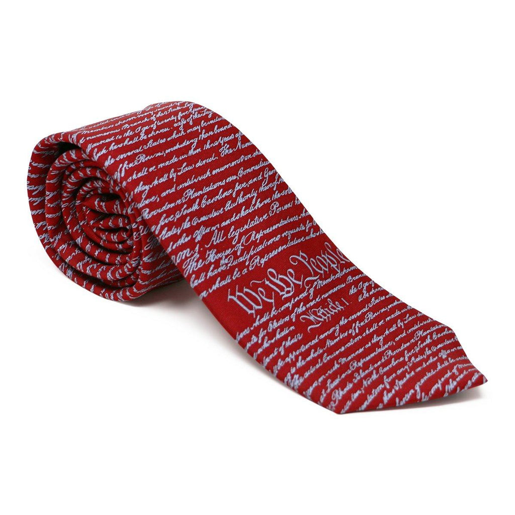 Constitution Tie Red and Light Blue