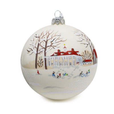 Winter Wonderland Mount Vernon Glass Ball Ornament