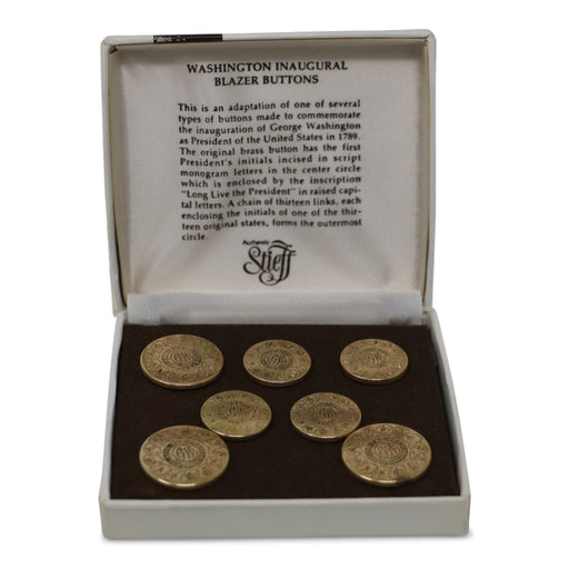 Set of 14kt Gold George Washington Blazer Buttons - THE ANTIQUE GUILD - The Shops at Mount Vernon