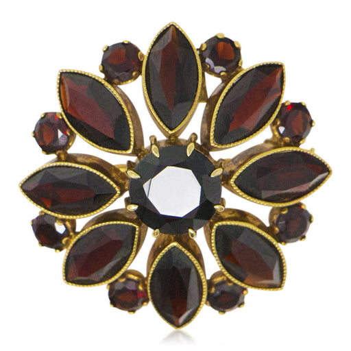Garnet Cluster Brooch or Pendant - The Shops at Mount Vernon - The Shops at Mount Vernon