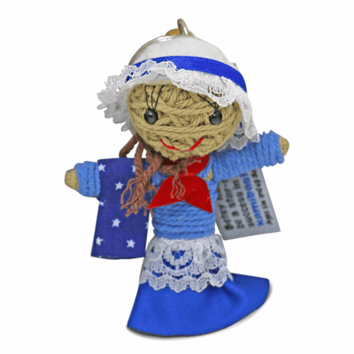 Betsy Ross String Doll Keychain
