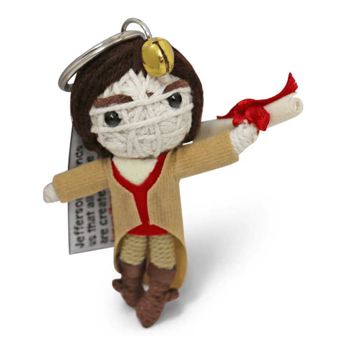 Thomas Jefferson String Doll Keychain - KAMIBASHI ASIAN ART - The Shops at Mount Vernon