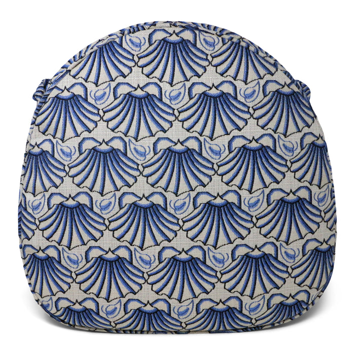 Martha's Shell Blue Self Welt Seat Cushion - Three Coins Cast - The Shops at Mount Vernon