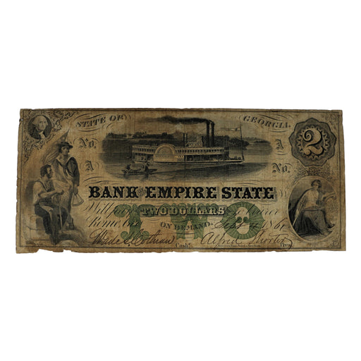 State of Georgia $2.00 Banknote - The Shops at Mount Vernon - The Shops at Mount Vernon