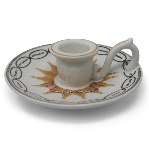 Martha Washington States China Chamberstick - DESIGN MASTER ASSOCIATES - The Shops at Mount Vernon
