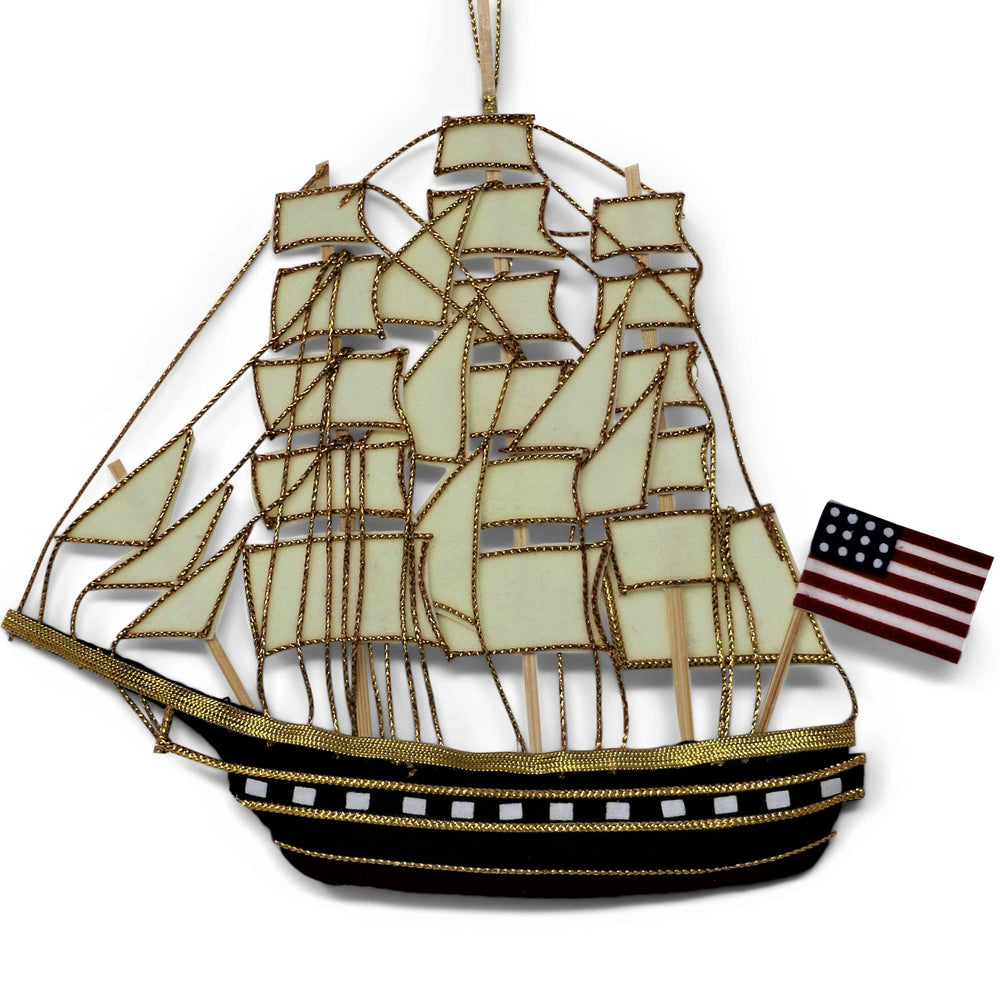 USS Constitution Ship Ornament - ST NICOLAS LTD. - The Shops at Mount Vernon