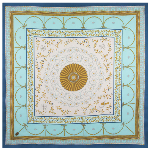 New Room Ceiling Scarf in Aqua - The Shops at Mount Vernon - The Shops at Mount Vernon