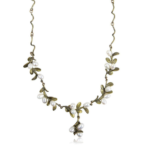 Mount Vernon Boxwood Twig Necklace - Silver Seasons - The Shops at Mount Vernon