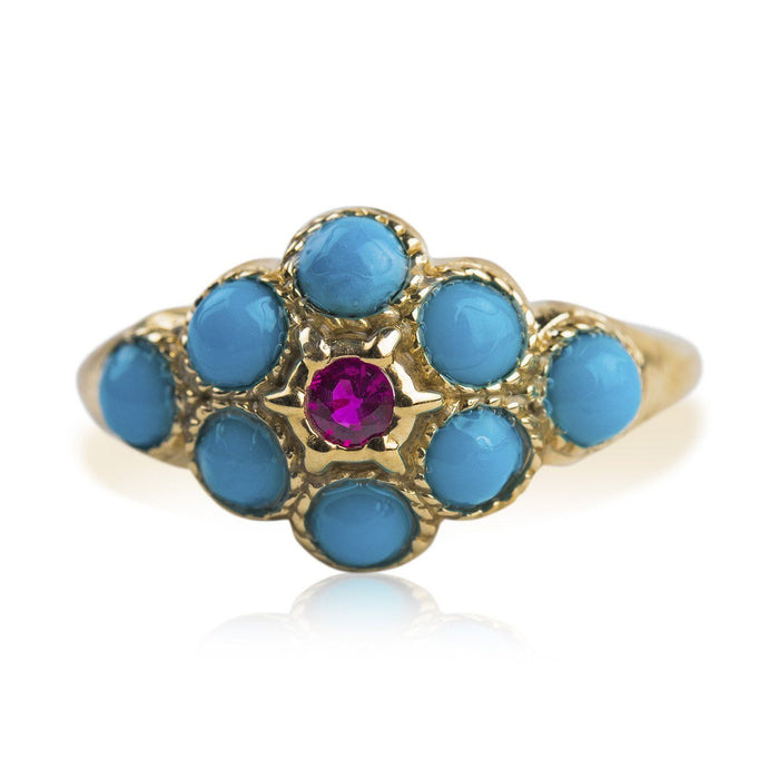 Martha Washington Turquoise Ring - At the Sign of the Gray Horse - The Shops at Mount Vernon