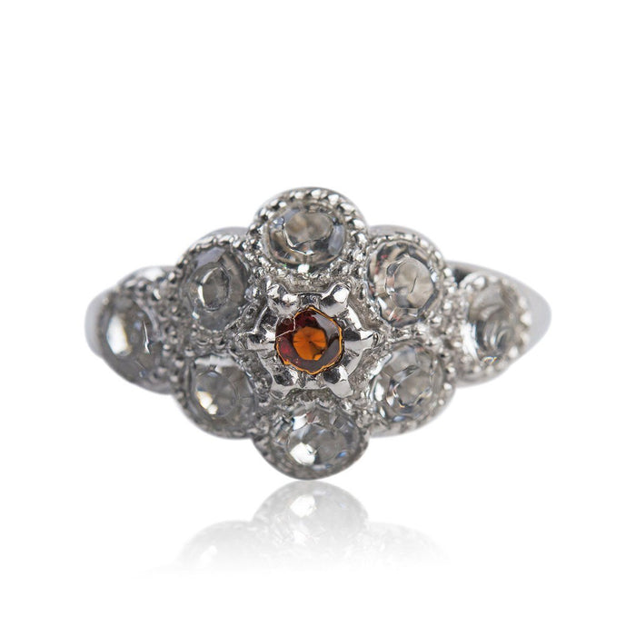 Martha Washington Crystal Ring with Garnet - 67 - The Shops at Mount Vernon