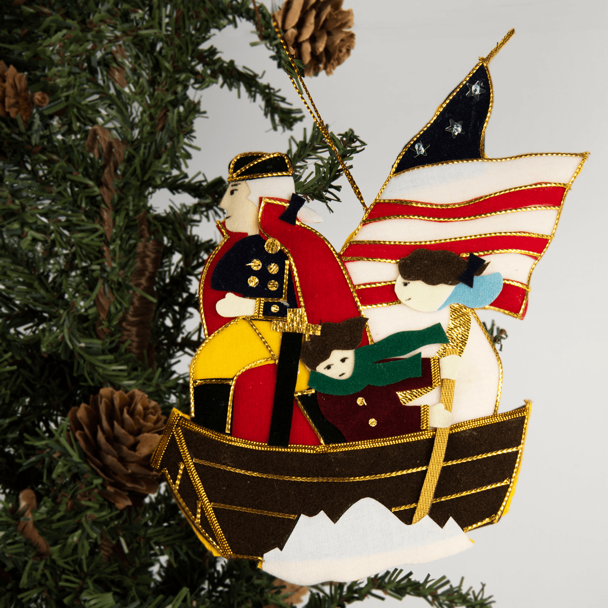 Gw Crossing The Delaware Ornament The Shops At Mount Vernon