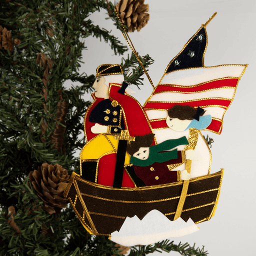 GW Crossing the Delaware Ornament - ST NICOLAS LTD. - The Shops at Mount Vernon
