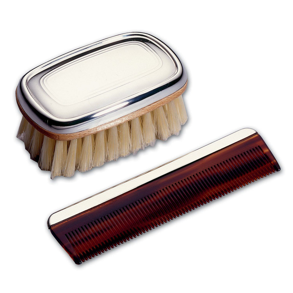 Sterling Silver Boy Brush and Comb