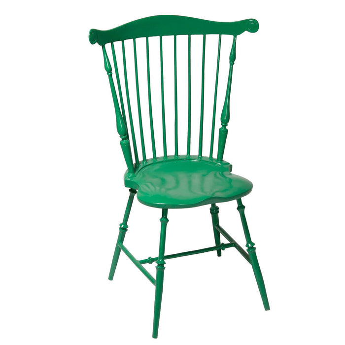 Mount Vernon Dining Room: Large Dining Room Green Fan Back Windsor Chair