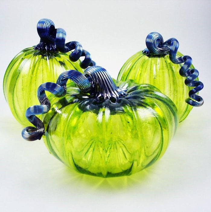 Lime pumpkins - LUKE ADAMS HANDBLOWN GLASS - The Shops at Mount Vernon