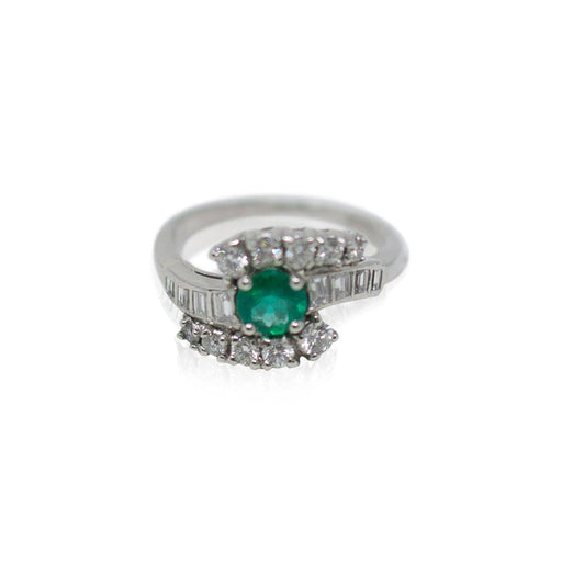 Platinum Emerald and Diamond Ring - THE ANTIQUE GUILD - The Shops at Mount Vernon