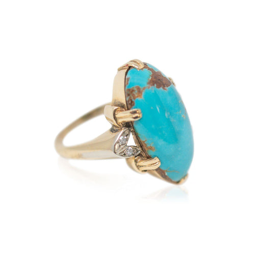 Oval Cabochon Turquoise Ring - THE ANTIQUE GUILD - The Shops at Mount Vernon