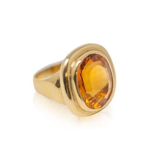 Citrine Statement Ring - THE ANTIQUE GUILD - The Shops at Mount Vernon