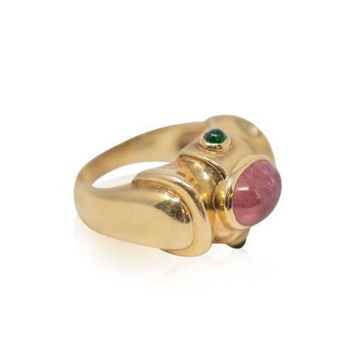 Cabochon Pink Tourmaline Ring - THE ANTIQUE GUILD - The Shops at Mount Vernon