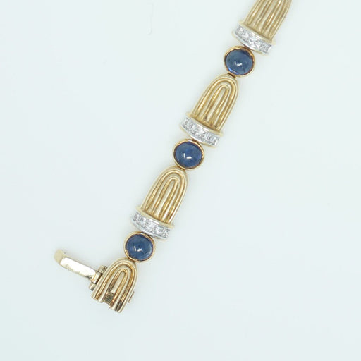 Sapphire Cabochon Bracelet - THE ANTIQUE GUILD - The Shops at Mount Vernon
