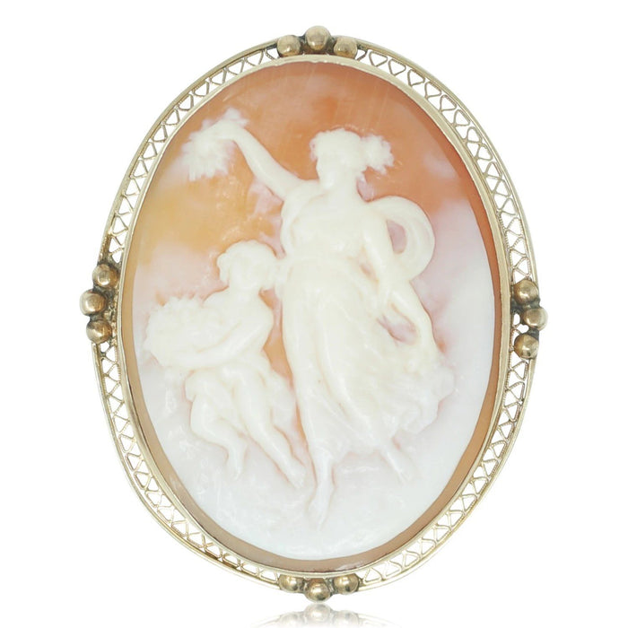Cameo Brooch - THE ANTIQUE GUILD - The Shops at Mount Vernon