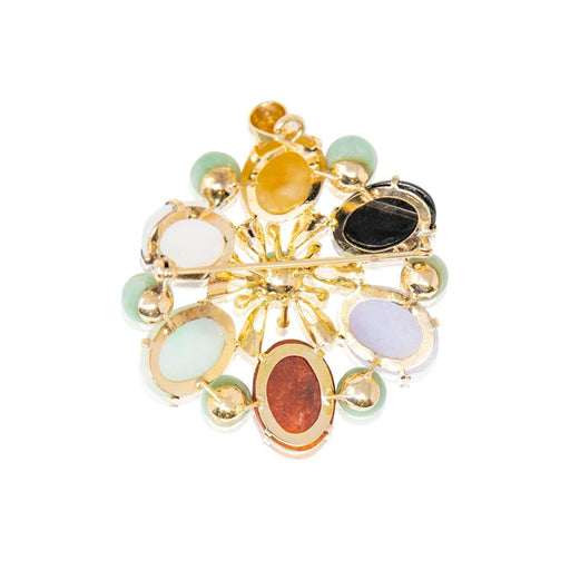 Round Semiprecious Cabochon Brooch - THE ANTIQUE GUILD - The Shops at Mount Vernon