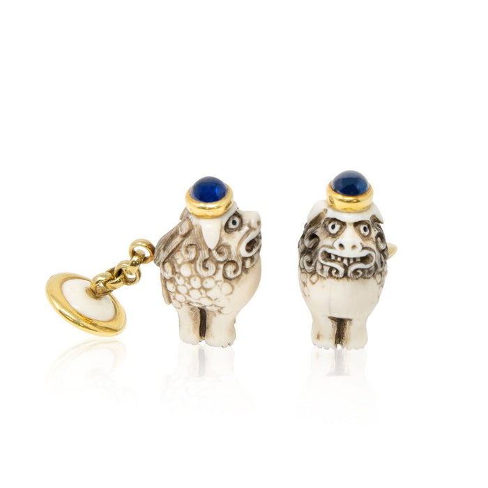 Ivory Foo Dog Cufflinks - THE ANTIQUE GUILD - The Shops at Mount Vernon