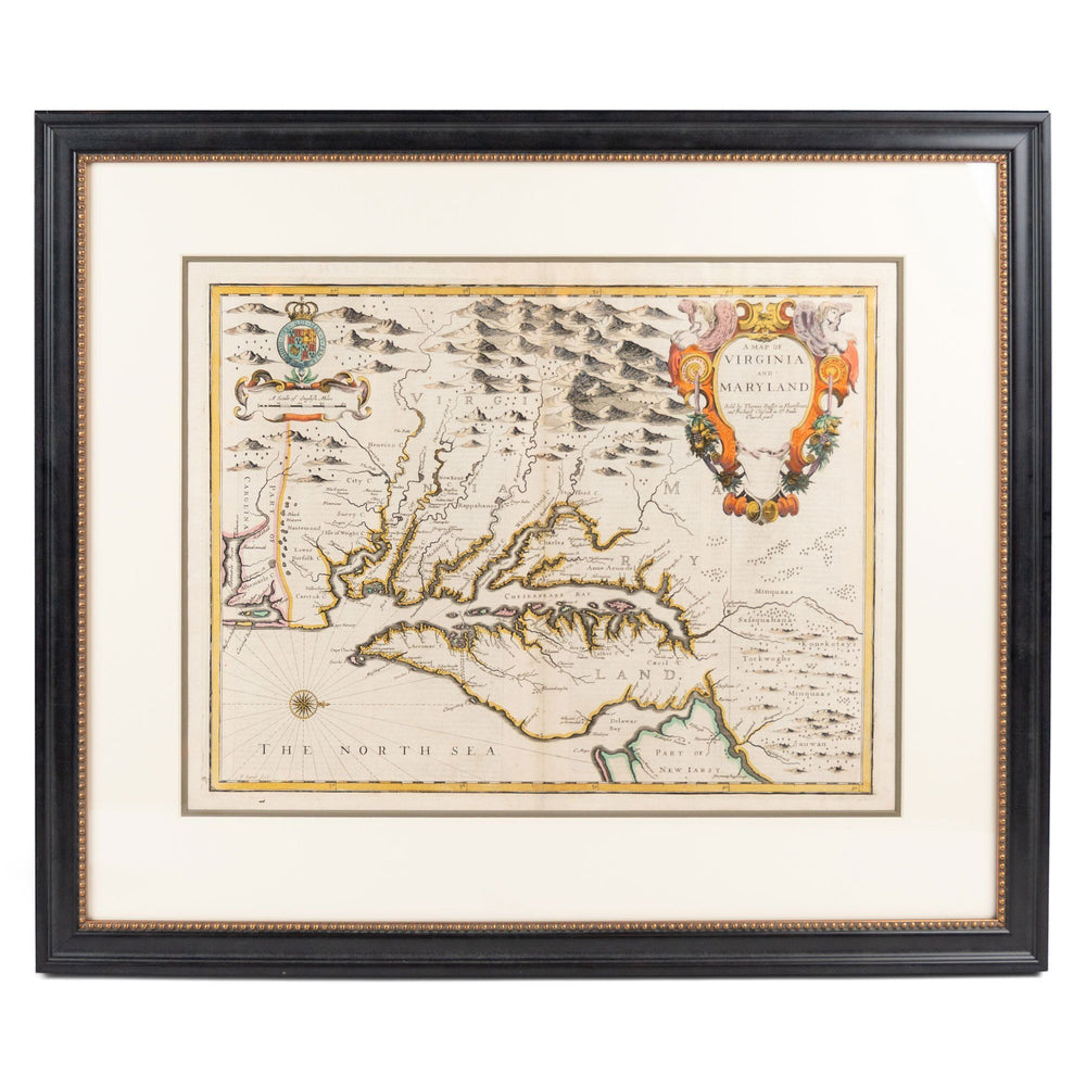 John Speed Map of Virginia and Maryland - Rick Badwey-Frameabilia - The Shops at Mount Vernon