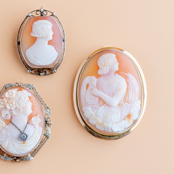 Antique Cameo Brooch - THE ANTIQUE GUILD - The Shops at Mount Vernon
