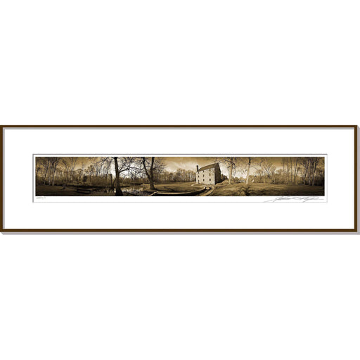 GW's Gristmill Framed Panoramic Photo - The Shops at Mount Vernon - The Shops at Mount Vernon