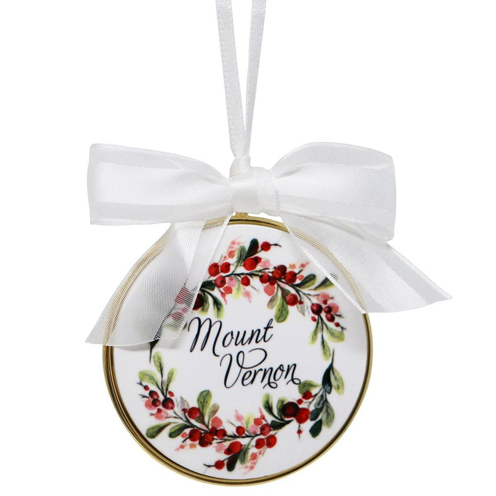 Mount Vernon Merry Berry Wreath Ornament - BARLOW DESIGNS, INC. - The Shops at Mount Vernon