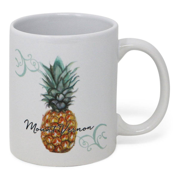 Mount Vernon Pineapple Mug - BARLOW DESIGNS, INC. - The Shops at Mount Vernon