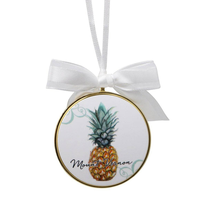 Mount Vernon Pineapple Ornament - BARLOW DESIGNS, INC. - The Shops at Mount Vernon