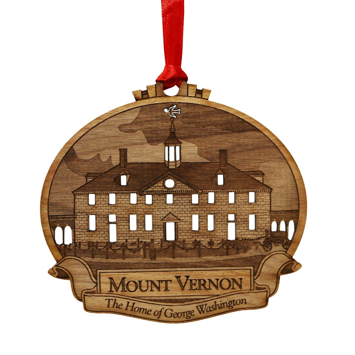 Mount Vernon Alder Wood Ornament